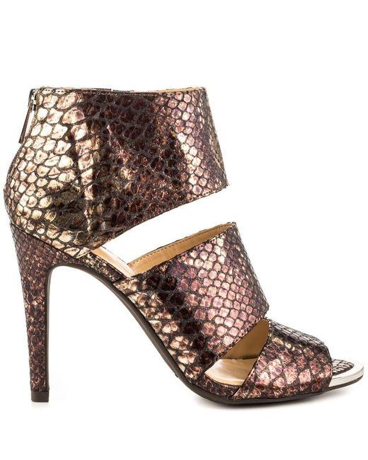 Jessica Simpson | Brown Elsbeth Women Us 7 Bronze Peep Toe Heels | Lyst