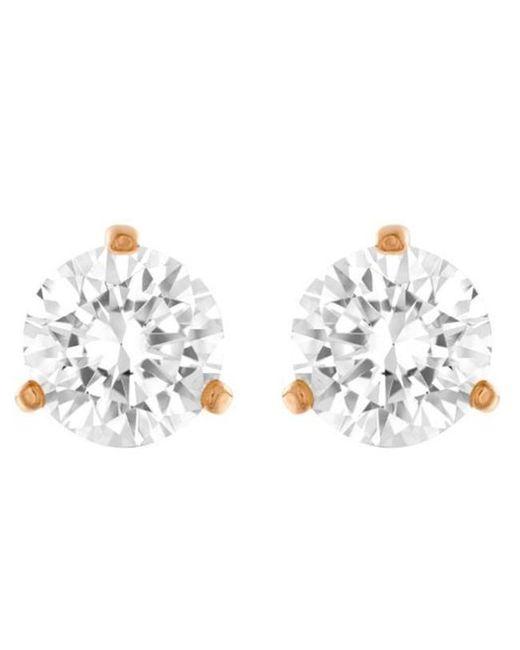 Swarovski - Metallic Gold-tone Crystal Stud Earrings - Lyst