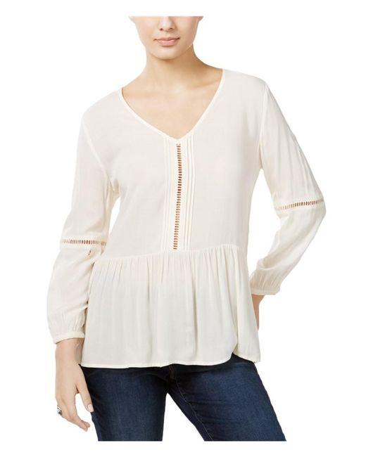 Calvin Klein - Casual Peasant Blouse Off-white Xl - Lyst