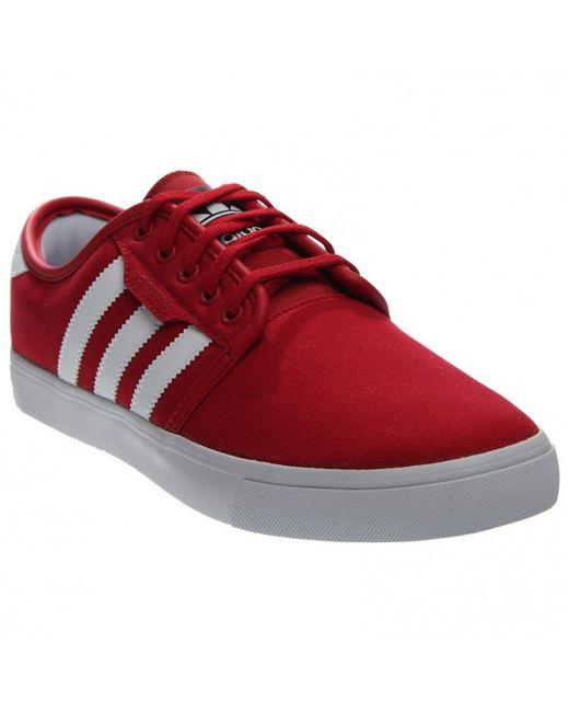 lyst adidas seeley in rosso per gli uomini.