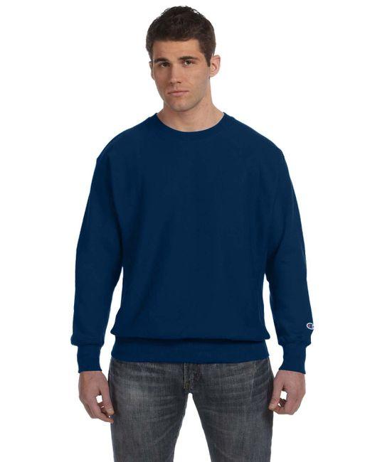 99ea77a2bbb7 Champion - Blue 12 Oz 8218 Reverse Weave Crew Sweatshirt S1049s149 Team  Navy M for Men ...