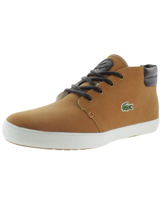 e03aab44c Lacoste - Brown Ampthill Terra Put Fur Mid Top Sneakers Shoes for Men -  Lyst ...
