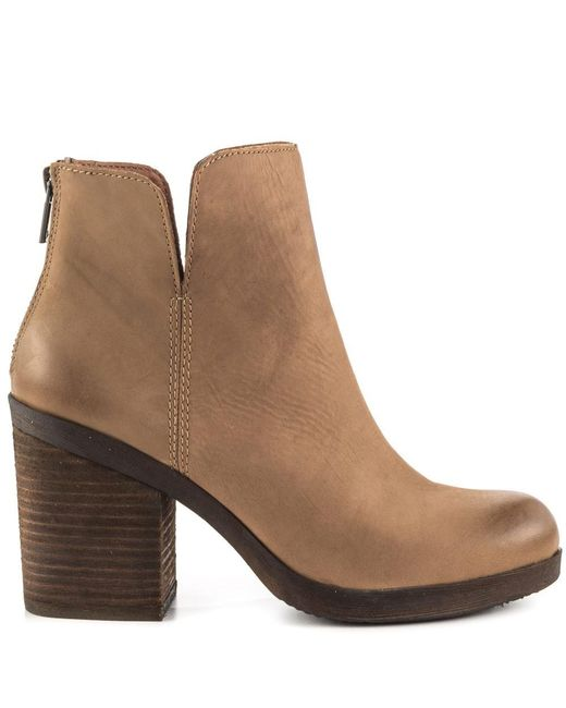 Lucky Brand | Brown Orsann Leather Ankle Boots | Lyst