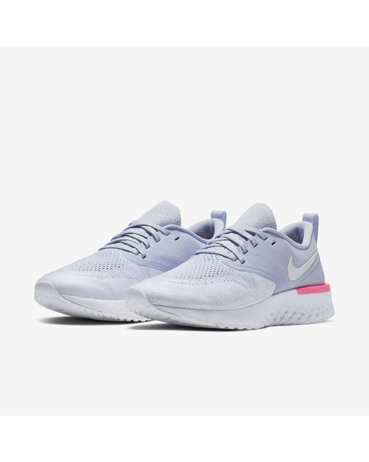d23e8695bb83 ... Nike - Blue Odyssey React Flyknit 2 Running Sneakers From Finish Line -  Lyst ...