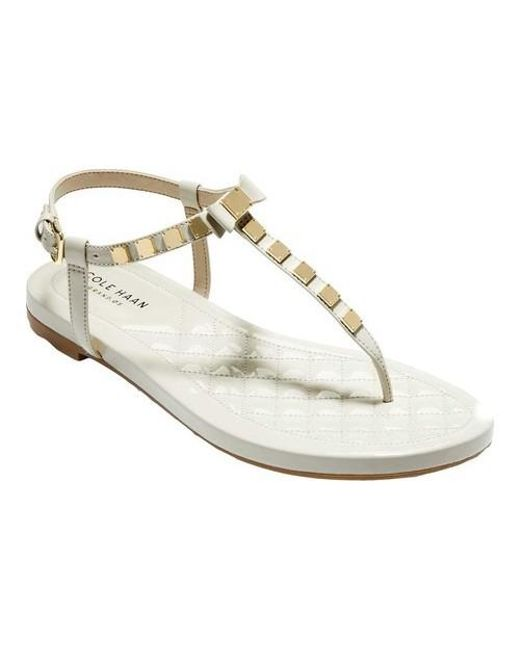 Cole Haan Tali Mini Bow Studded Thong Sandal (Women's)
