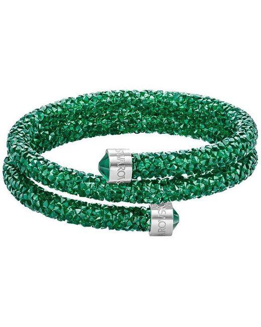 Swarovski - Green Crystal-accented Wrap Bracelet - Lyst