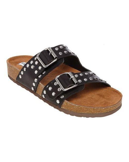 14a816789ec Lyst - Steve Madden Bond Slide Sandal in Black - Save 58%