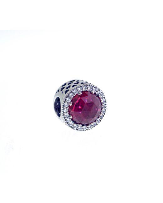 Pandora - Purple Cerise Radiant Hearts Charm - Lyst