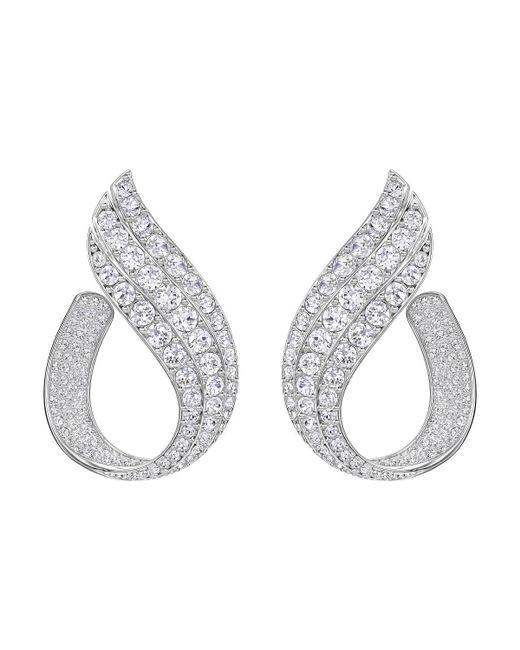 Swarovski | Metallic Fortunately Hoop Pierced Earrings | Lyst