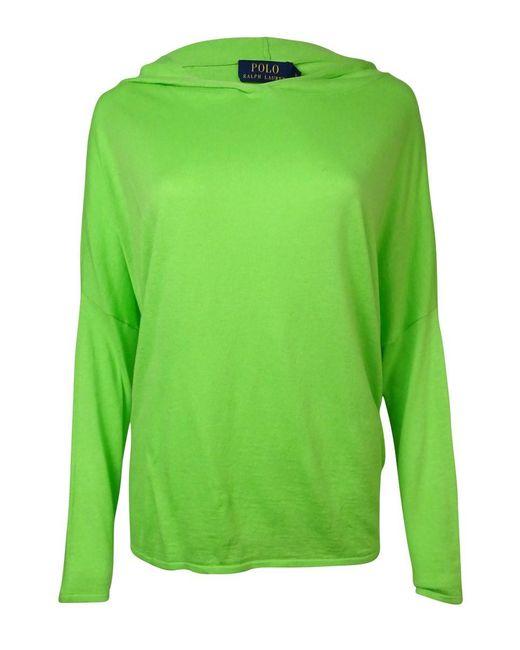 Polo Ralph Lauren | Green Hooded Dolman Cashmere Blend Sweater (m | Lyst