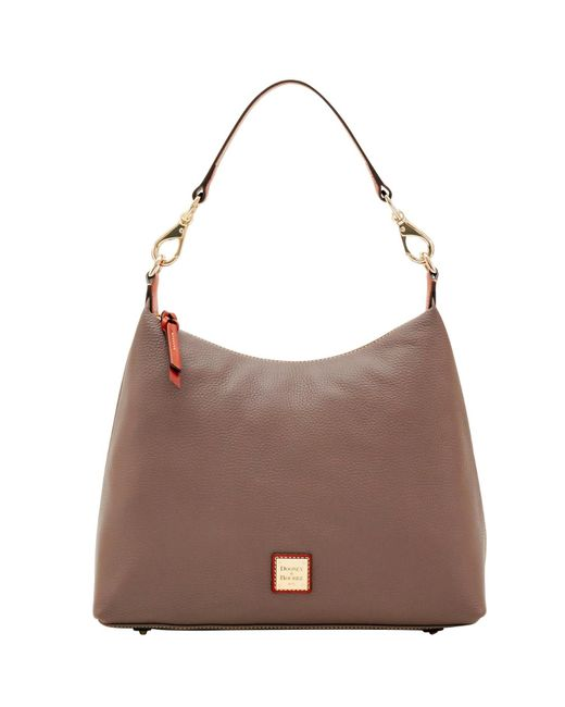 Dooney & Bourke | Brown Pebble Grain Juliette Hobo | Lyst
