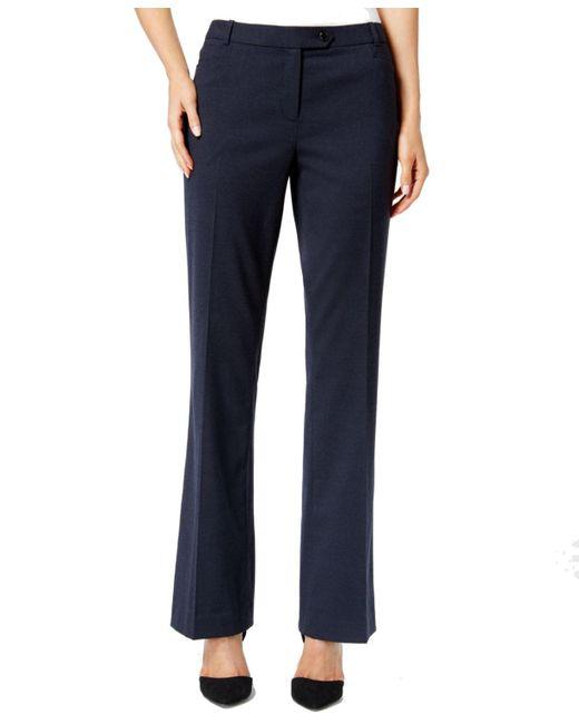 Calvin Klein | Multicolor Womens Petites Straight Leg Modern Fit Dress Pants | Lyst