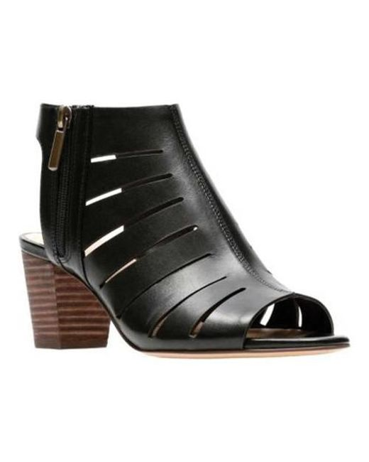 d13b8004171 Lyst - Clarks Deloria Ivy Closed Toe Sandals in Black - Save ...