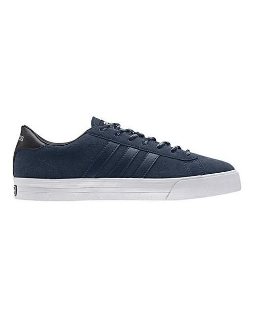 ... get adidas blue neo cloudfoam super daily leather sneaker for men lyst  dfe38 a3614 where to buy ... 533a2f55f