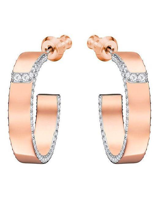 Swarovski - Lakeside Pierced Earrings - White - Rose Gold Plating - 5387647 - Lyst