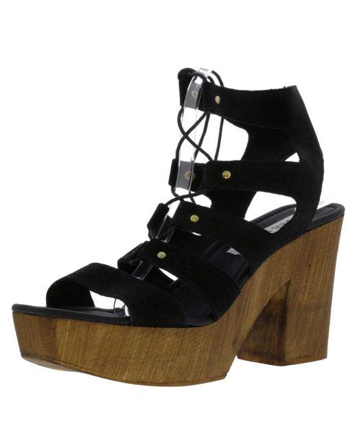 47a2811acfe6 Steve Madden - Black Korra Suede Ankle-high Pump - 10m - Lyst ...