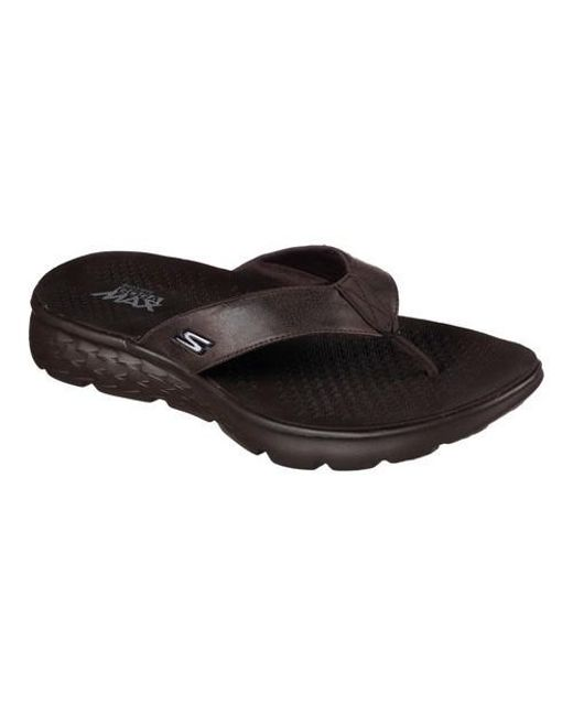 18e99d61c123 Lyst - Skechers On The Go 400 Vista Flip-flop in Brown for Men