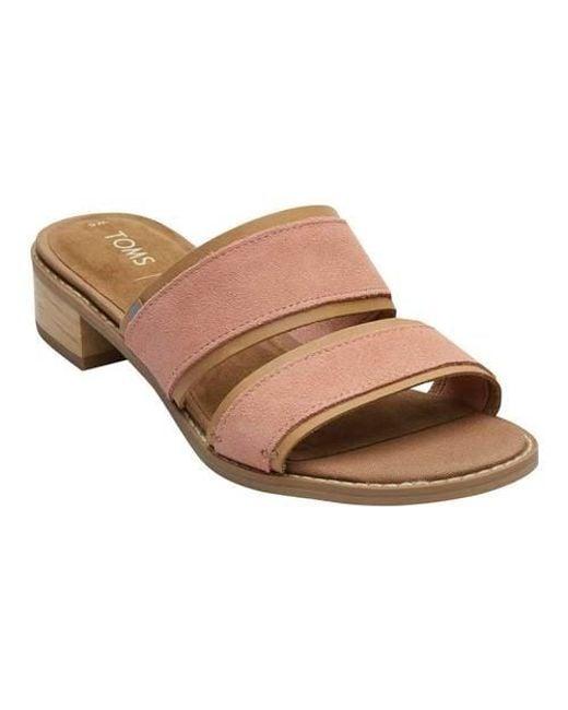 ef93901cc27 TOMS - Multicolor Mariposa Two-strap Slide Sandal - Lyst