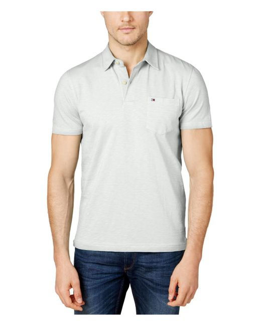 5944df89baa716 Lyst - Tommy Hilfiger Bernadino Rugby Polo Shirt in White for Men ...
