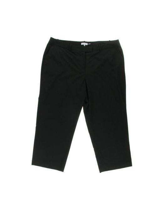 Calvin Klein   Black Plus Petites Flat Front Wide Leg Pants   Lyst