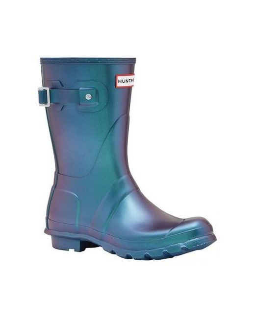 1cc2a0ecc8e Lyst - HUNTER Original Short Nebula Rain Boot in Blue - Save 61%
