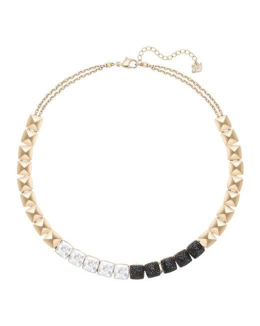 Swarovski   Metallic Glance Crystal Collar Necklace   Lyst