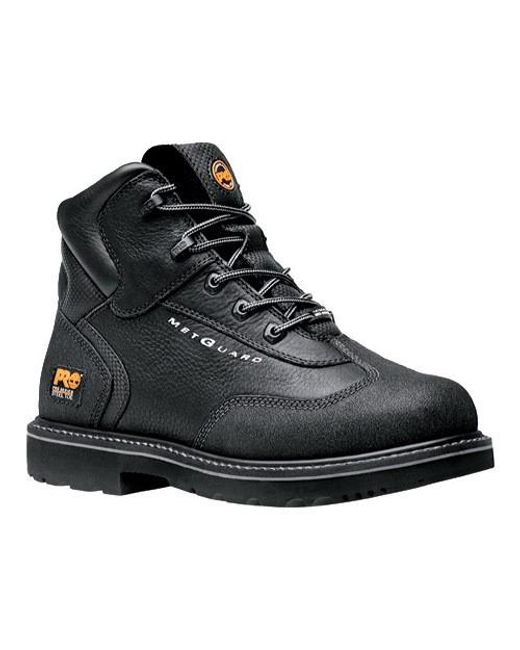 "Timberland | Black Pro Internal Met Guard 6"" Steel Toe Boot for Men 