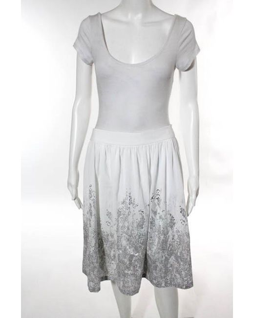 CALVIN KLEIN 205W39NYC - White Silver Metallic Pleated Full Skirt Size 12 New $170 - Lyst