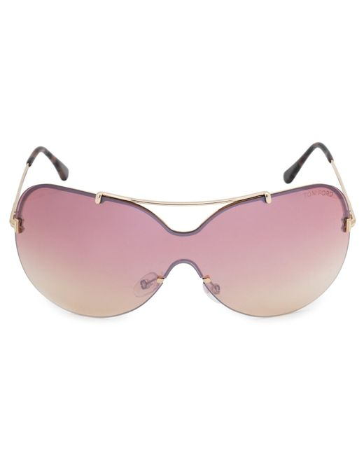 7354bfba9e8 Lyst - Tom Ford Ondria Shield Sunglasses in Red - Save 36%