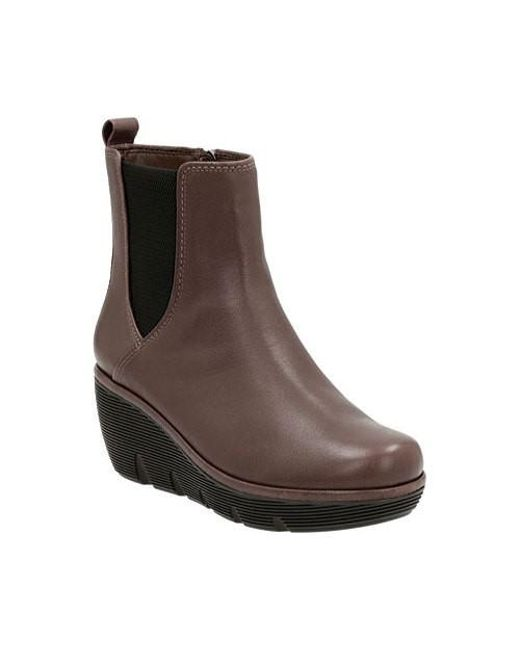 Clarks | Brown Clarene Surf Wedge Boot | Lyst