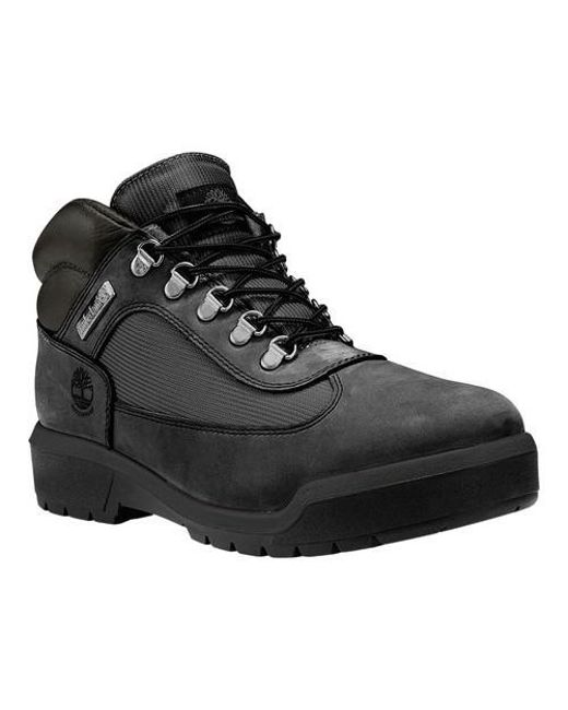 Timberland | Black Field Leather/fabric Waterproof Boot for Men | Lyst