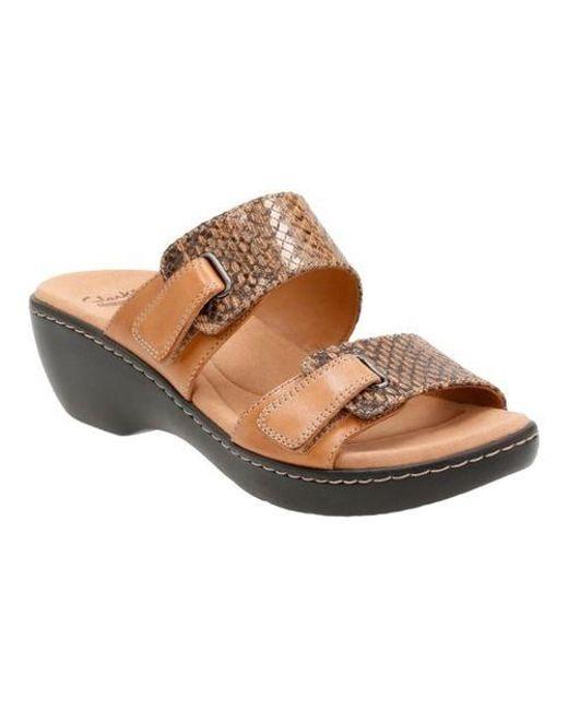 7e11d4e68e2 Lyst - Clarks Delana Fenela Slide-on Sandals in Brown - Save 39%