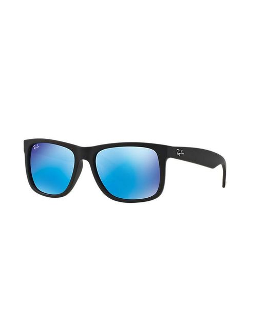 Ray-Ban   Blue Justin Flash Lens Square Sunglasses for Men   Lyst
