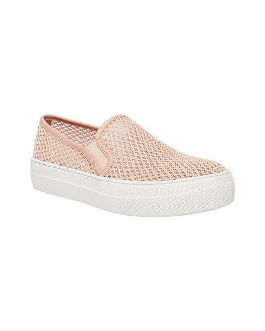 2800926ae305 Lyst - Steve Madden Gills Slip On Platform Sneaker in Pink