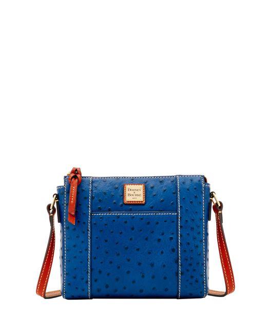 Dooney & Bourke - Blue Ostrich Lexington Crossbody Shoulder Bag - Lyst