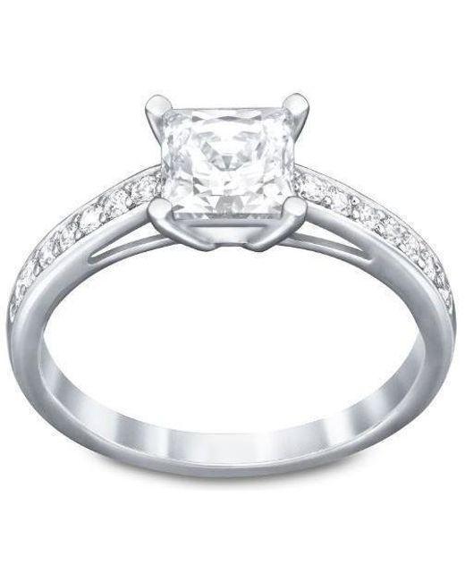 Swarovski | Metallic Attract Square Ring | Lyst