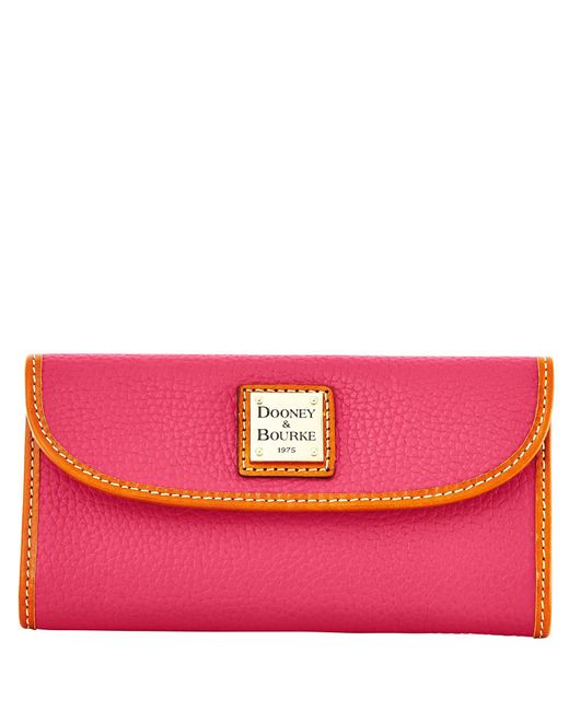 Dooney & Bourke   Pink Pebble Grain Continental Clutch   Lyst