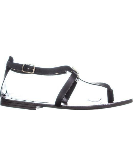 c4809f520 ... Steve Madden - Black Kween Flat Thong Sandals, Leather, 6.5 Us - Lyst  ...