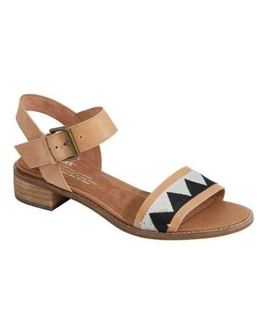2cc7e9eefee Lyst - TOMS Camilia Ankle Strap Sandal in Brown - Save 71%
