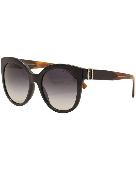 0ba40c5f69 Burberry - Black Be4243 Be 4243 36378g  havana Cat Eye Sunglasses 55mm -  Lyst ...