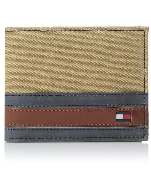Tommy Hilfiger - Multicolor Exeter Passcase Billfold Wallet With Removable Card Holder for Men - Lyst