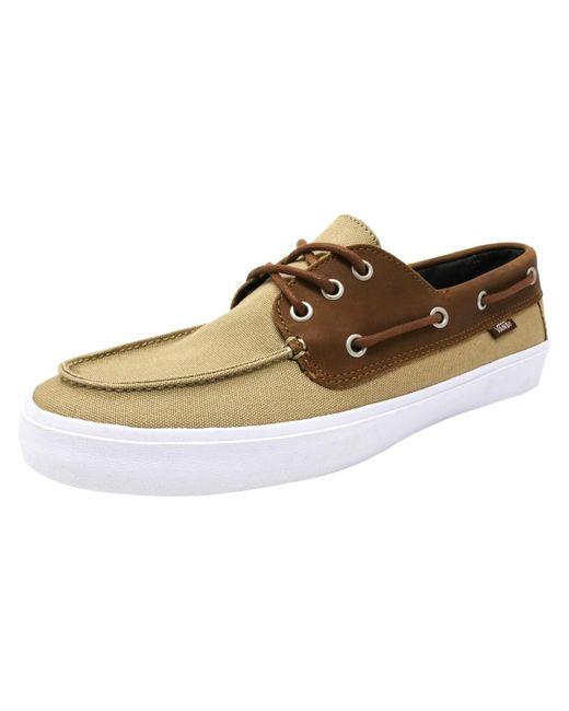 Vans - Natural Chauffeur Sf Boat Shoe for Men - Lyst