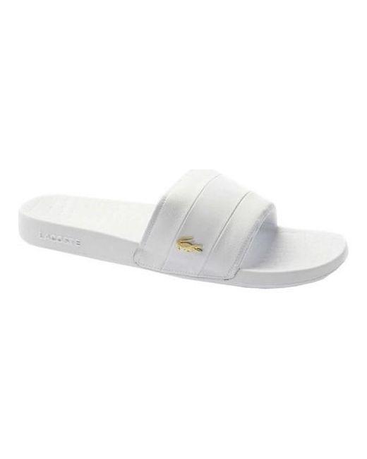 2548f43ff06 Lyst - Lacoste Frasier Slide Sandal in White