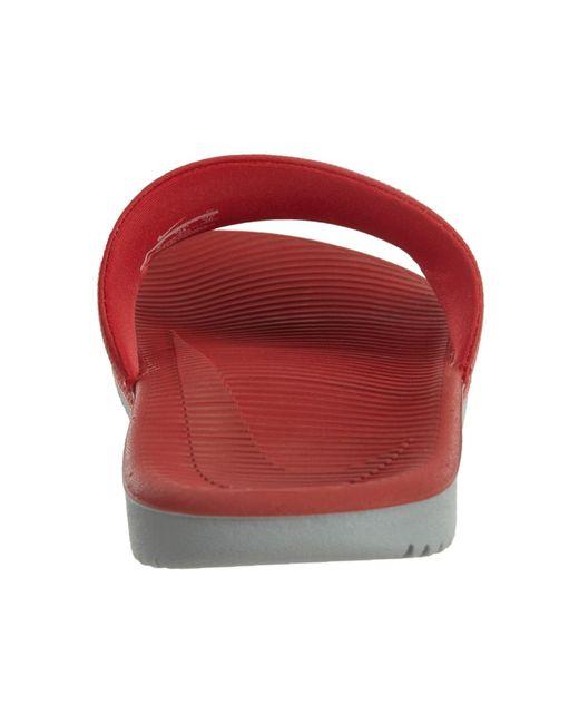 ... Nike - 832646-610: Kawa University Red White Wolf Grey Sneakers for Men  ...