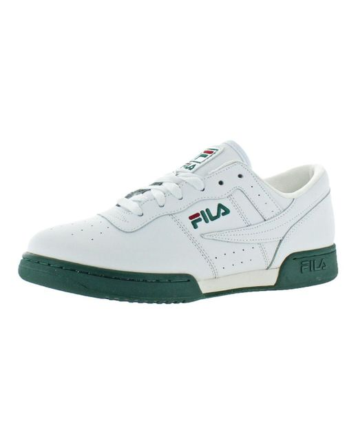 991400d278dcd Fila - White Original Fitness Leather Trainer Casual Shoes for Men - Lyst  ...