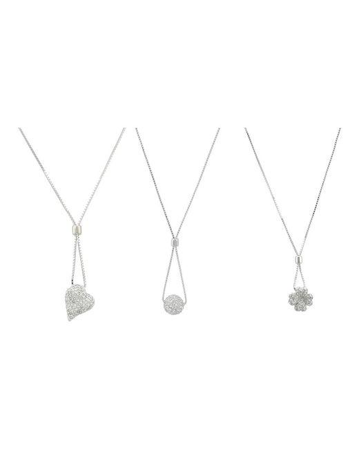 Swarovski | Metallic Silver Tone Blink Pendant Set Necklace 920008 | Lyst
