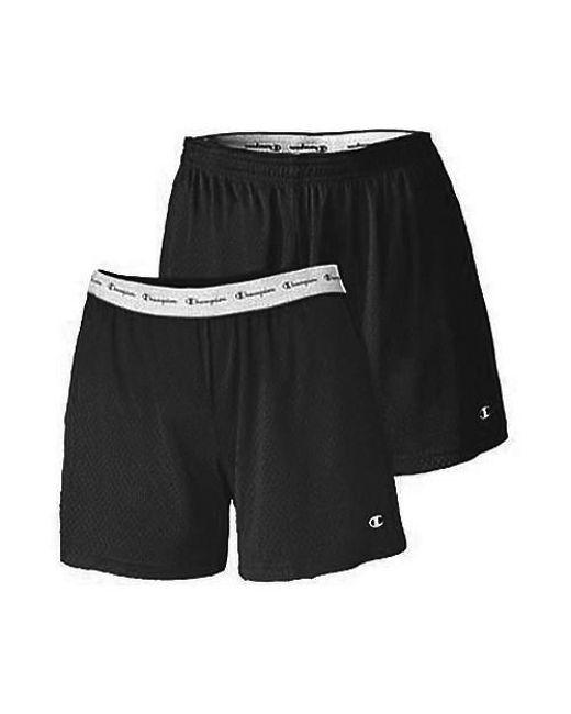 25ae089f4eb7 Lyst - Champion Active 5  Mesh Shorts in Black