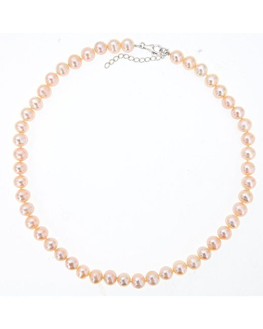 Lily Blanche - Multicolor Classic Pearl Necklace - Champagne - Lyst
