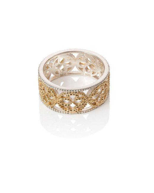Mara Hotung - Metallic Faith Ring Yellow Gold Vermeil With Silver Edge - Lyst