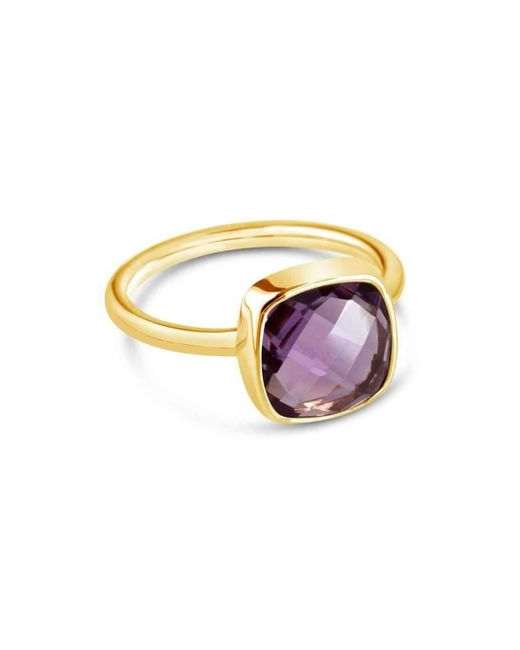 Lily Blanche | Metallic Purple Amethyst Cocktail Ring | Lyst